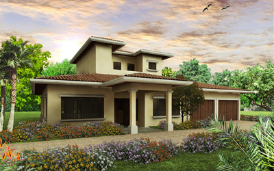 Courtyard Home Plan for Your Own Paradise in Costa Rica | Modern